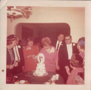 Mom & Dad's wedding reception - 1965