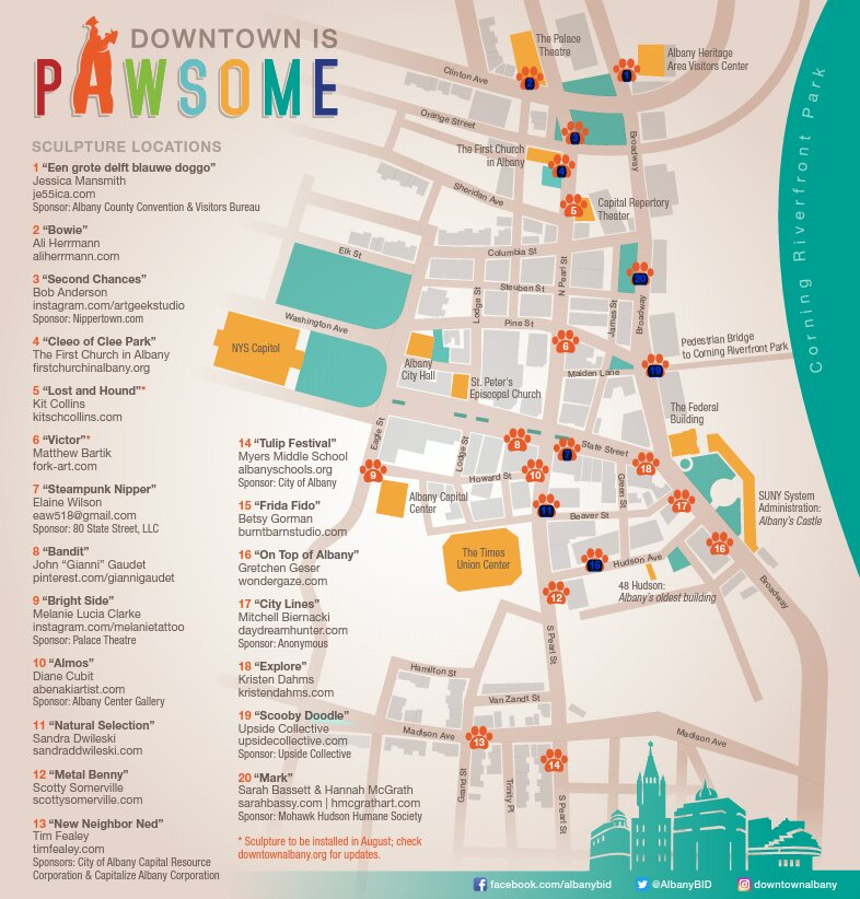 Downtown is Pawsome Albany NY Griffins and Ginger Snaps